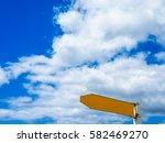 street sign for direction... | Shutterstock . vector #582469270
