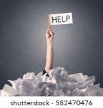 female hand emerging from... | Shutterstock . vector #582470476