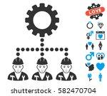 service staff icon with bonus... | Shutterstock .eps vector #582470704