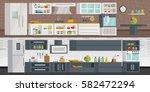 the concept of modern cuisine.... | Shutterstock .eps vector #582472294
