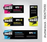 black sale banner template ...   Shutterstock .eps vector #582475450