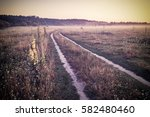 vintage early morning on meadow ... | Shutterstock . vector #582480460