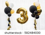 decoration for 3 years birthday   Shutterstock . vector #582484030