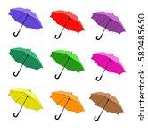 colorful umbrellas | Shutterstock .eps vector #582485650