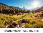 scenic surroundings with famous ... | Shutterstock . vector #582487618
