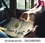 ecology environment save earth... | Shutterstock . vector #582488980