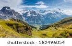 Great View Eiger Village Picturesque - Fine Art prints