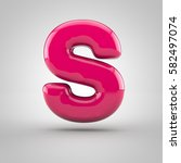 glossy pink paint letter s...
