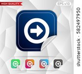 colored icon or button of right ... | Shutterstock .eps vector #582497950