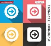 colored icon or button of right ... | Shutterstock .eps vector #582498058