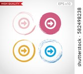 colored icon or button of right ... | Shutterstock .eps vector #582498238
