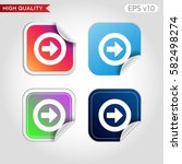 colored icon or button of right ... | Shutterstock .eps vector #582498274