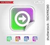 colored icon or button of right ... | Shutterstock .eps vector #582498280