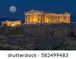 The Parthenon In Acropolis Hill ...