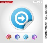 colored icon or button of right ... | Shutterstock .eps vector #582500608