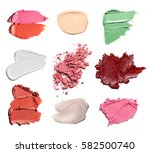smears of different colors are... | Shutterstock . vector #582500740