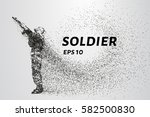 soldiers of the particles. the... | Shutterstock .eps vector #582500830