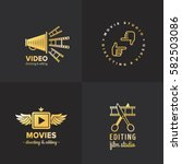 film  movie and video logo... | Shutterstock .eps vector #582503086