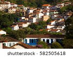 view of the historical town... | Shutterstock . vector #582505618