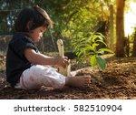 plan saving concept  kid... | Shutterstock . vector #582510904