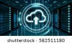 server room data center with... | Shutterstock . vector #582511180