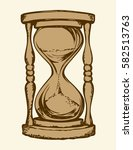 aged flowing grain timekeeper...   Shutterstock .eps vector #582513763