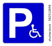 disabled person parking sign.... | Shutterstock .eps vector #582513898