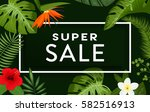 super sale banner  poster with... | Shutterstock .eps vector #582516913