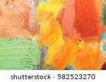 artists oil paints multicolored ... | Shutterstock . vector #582523270