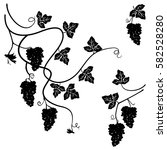 grapes   set of few decorative... | Shutterstock .eps vector #582528280