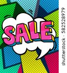 sale message in pop art style ... | Shutterstock .eps vector #582528979
