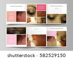 set of business templates for... | Shutterstock .eps vector #582529150