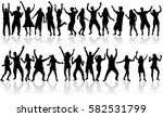 dancing people silhouettes. | Shutterstock .eps vector #582531799