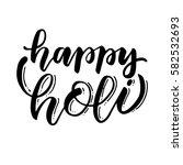 handwritten brush lettering of... | Shutterstock .eps vector #582532693