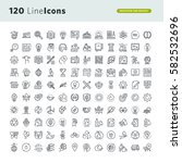 set of premium concept icons... | Shutterstock .eps vector #582532696