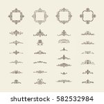 vintage decor elements and... | Shutterstock . vector #582532984