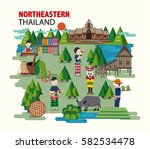 northeastern thailand called... | Shutterstock .eps vector #582534478