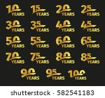 isolated golden color numbers... | Shutterstock .eps vector #582541183