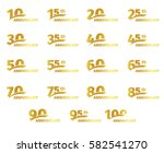 isolated golden color numbers... | Shutterstock .eps vector #582541270