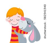best friends. cute cartoons boy ...   Shutterstock .eps vector #582541540