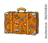 hand drawn retro style travel... | Shutterstock .eps vector #582542833