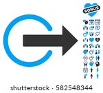 logout icon with bonus passion... | Shutterstock .eps vector #582548344