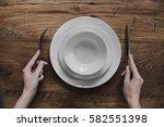 healthy food theme  hands... | Shutterstock . vector #582551398