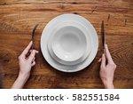 healthy food theme  hands... | Shutterstock . vector #582551584