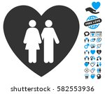 family love heart pictograph... | Shutterstock .eps vector #582553936