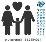family love icon with bonus... | Shutterstock .eps vector #582554014