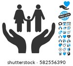 family care hands icon with... | Shutterstock .eps vector #582556390