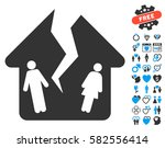 divorce house icon with bonus... | Shutterstock .eps vector #582556414