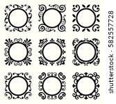 decorative frames | Shutterstock .eps vector #582557728