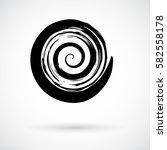 hand painted swirl symbol.... | Shutterstock .eps vector #582558178